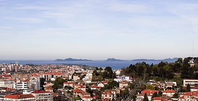 Panoramic view in Vigo