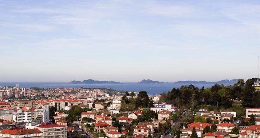 Panoramic view in Vigo